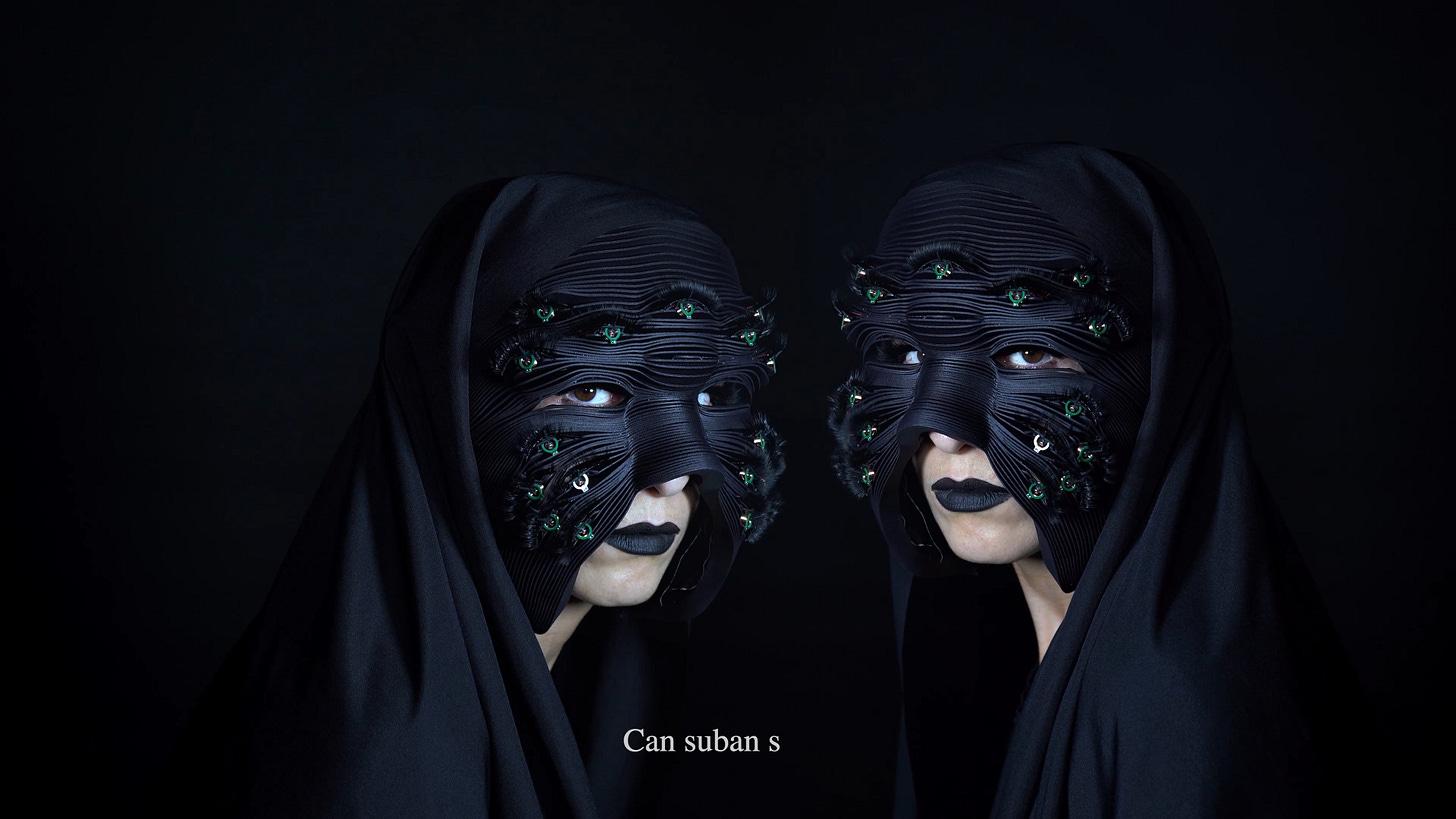 Masks that communicate through blinking