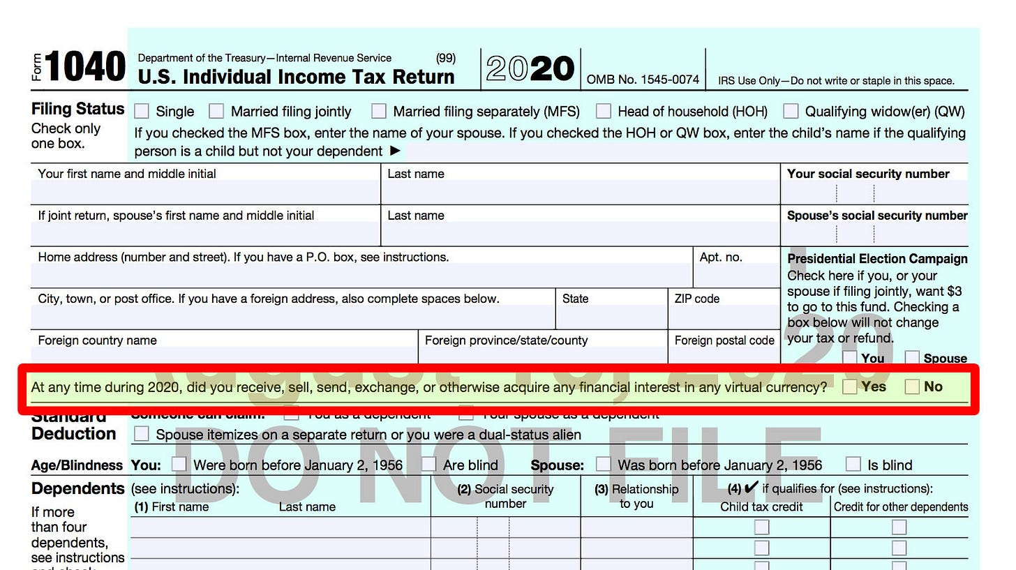 💣 IRS creates new Crypto Tax on 1040 Form - Including Micro-Payments like  Publish0x 💣