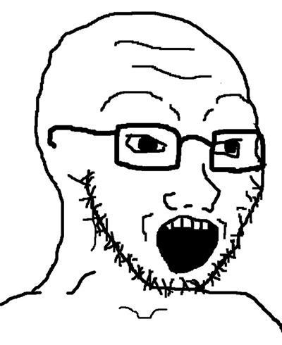 Soy Boy Wojak - Caption   Meme Generator
