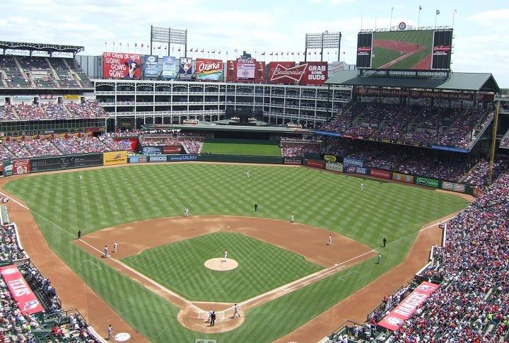 Image result for ballpark in arlington right field