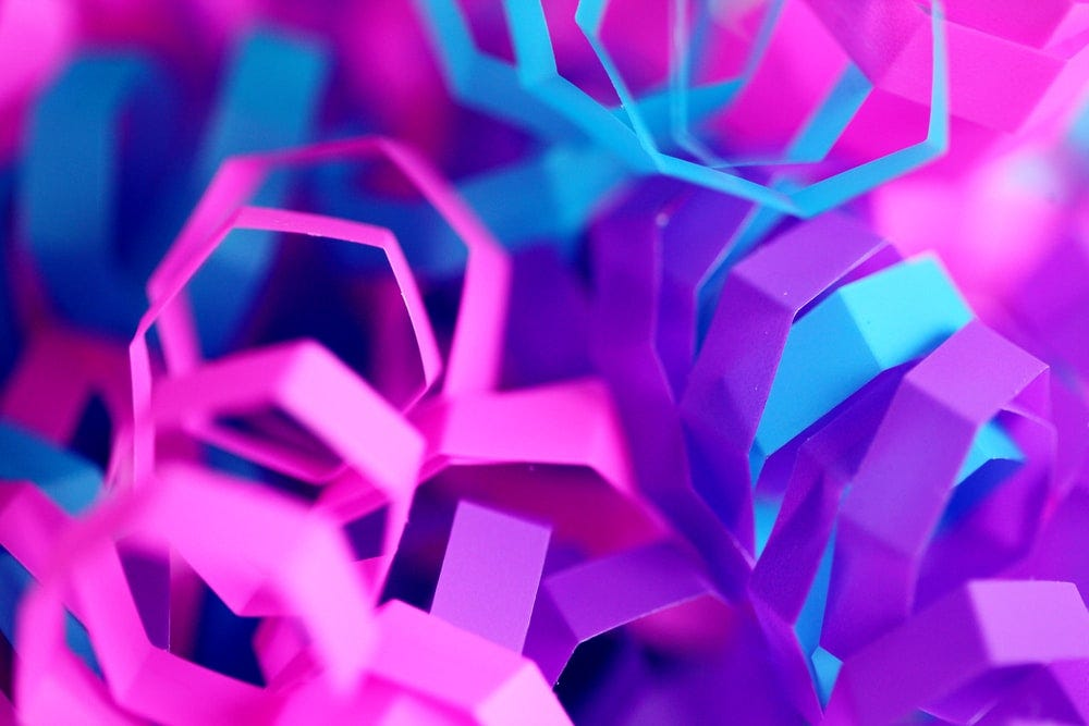 closeup photo of purple and pink decors
