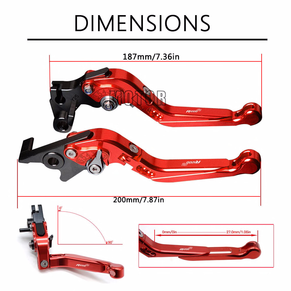 For BMW R1200RS R 1200 RS R 1200RS R1200 RS 2015 2016 2017 2018 Motorcycle CNC Brake Clutch Levers Adjustable Folding Extendable