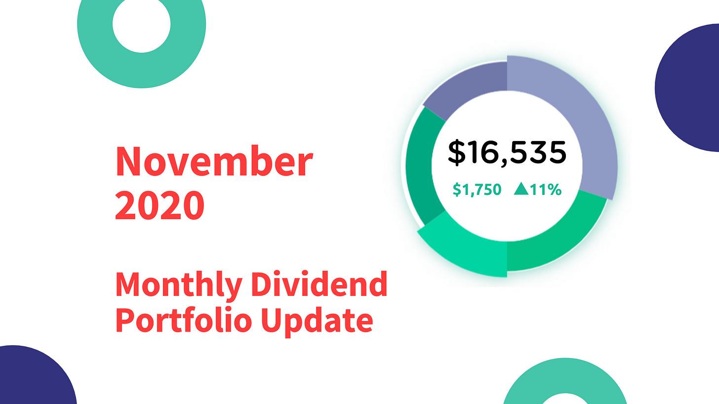 November 2020 Monthly Dividend Portfolio Update