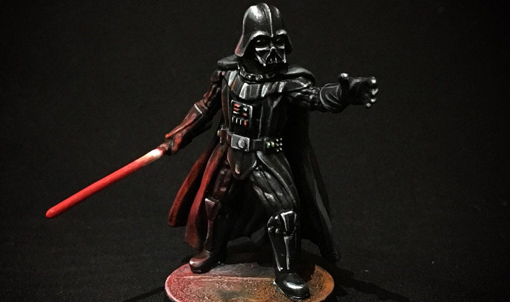 A very well-painted Darth Vader miniature