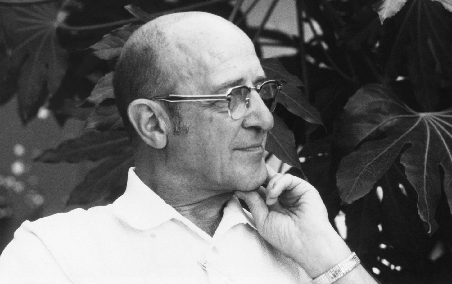 Image of psychotherapist Carl R. Rogers in black and white retrieved from ThoughtCo website