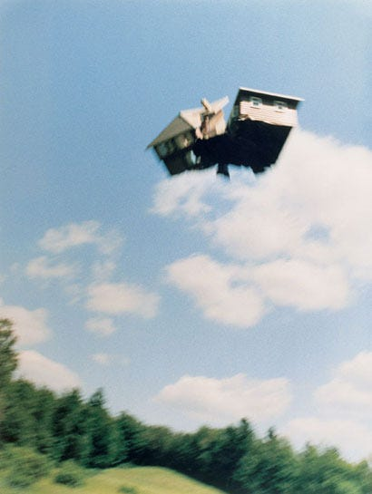 Photographer Peter Garfield Sends Houses Flying | Colossal