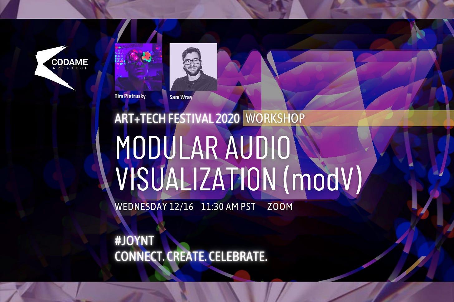 Modular Audio Visualisation with modV