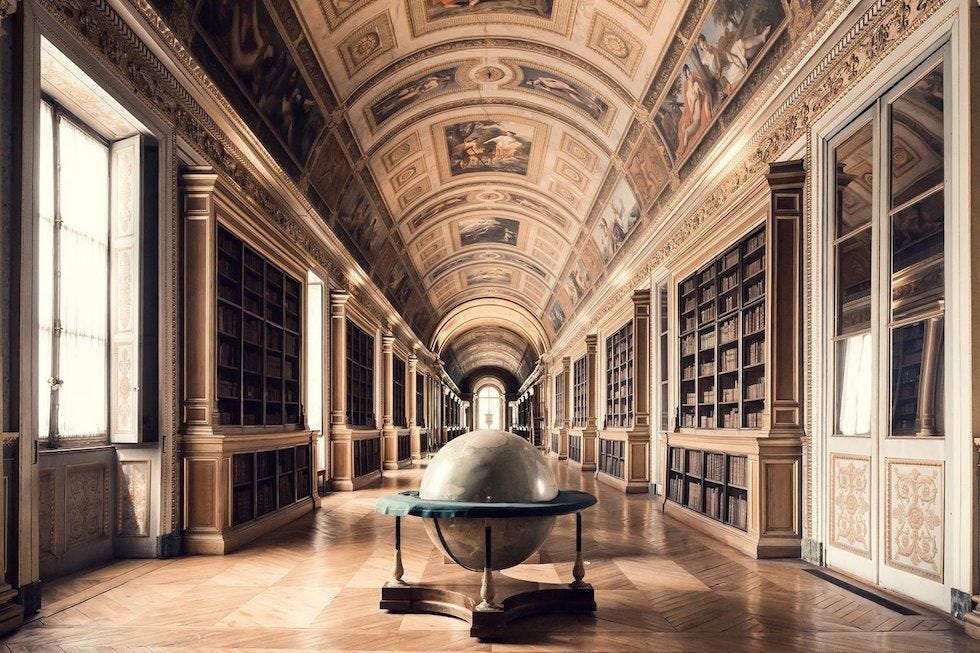Galerie Diane, Fontainebleau Libraries - Thibaud Poirier | Foto,  Biblioteca, Belle foto