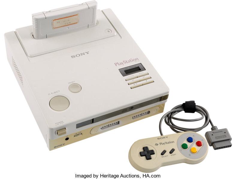 Video Games:Nintendo, Nintendo Play Station Super NES CD-ROM Prototype - Sony and Nintendo c. 1992....