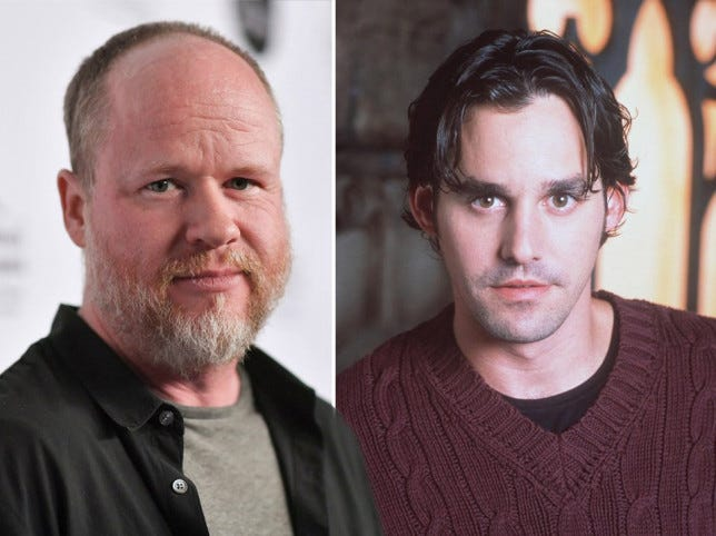 Nicholas Brendon and Joss Whedon