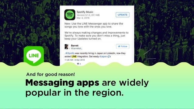 And for good reason! Messaging apps are widely popular in the region.