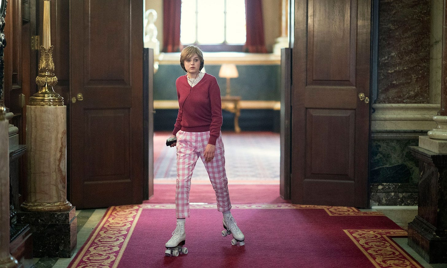 The Crown': Did Princess Diana Really Roller-Skate Through the Palace? |  Vanity Fair