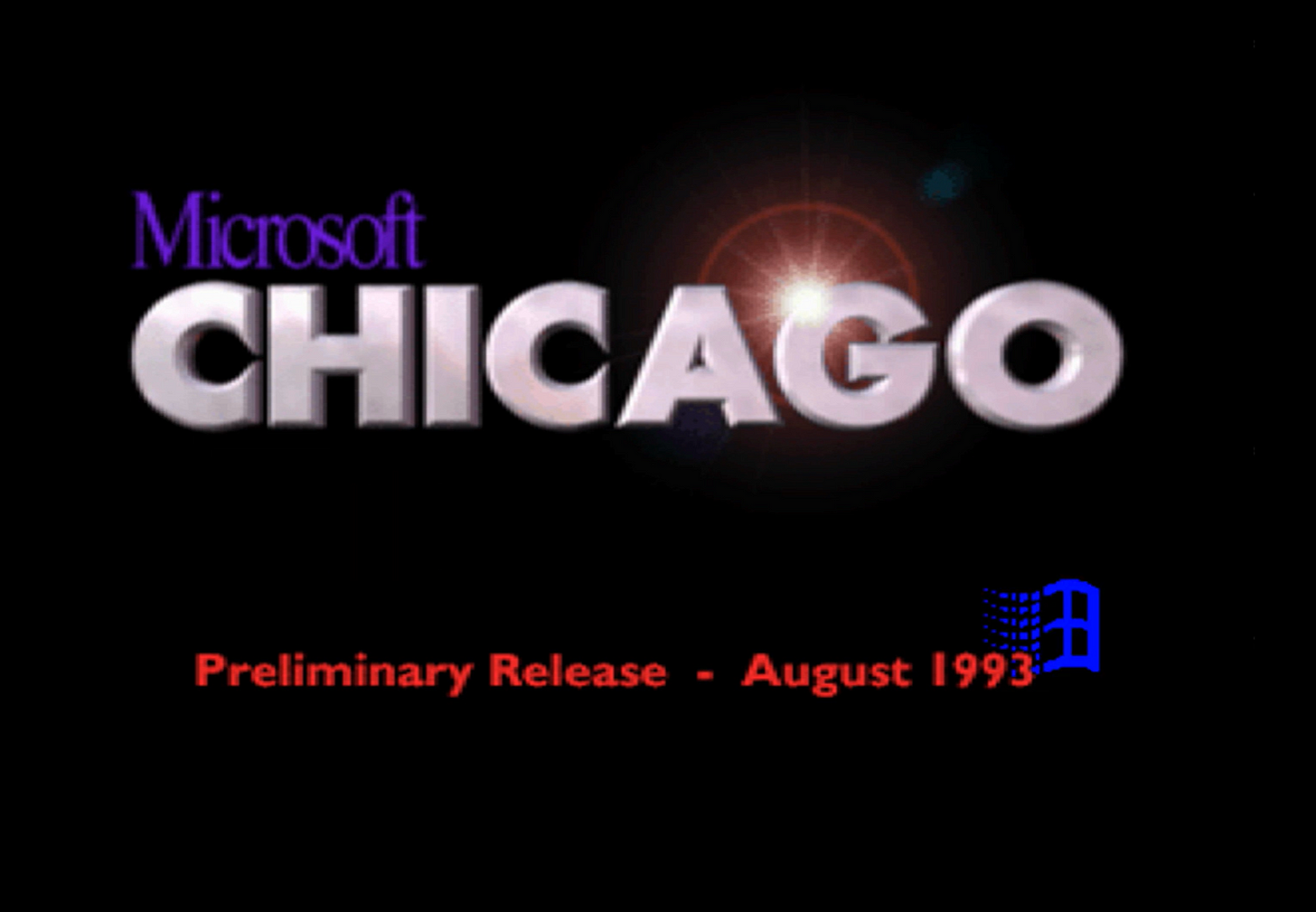 The Chicago boot screen August 1993.