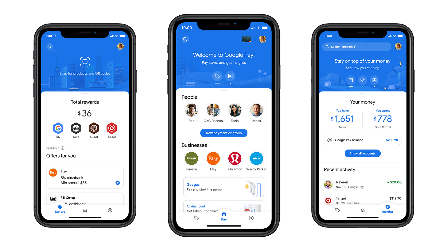The new Google Pay app (Google)