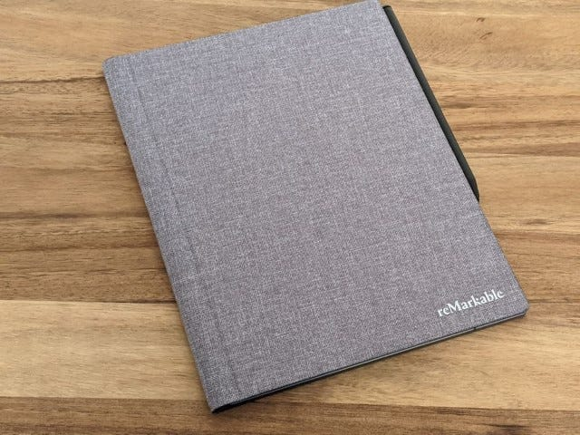 The reMarkable 2 Gray Book Folio