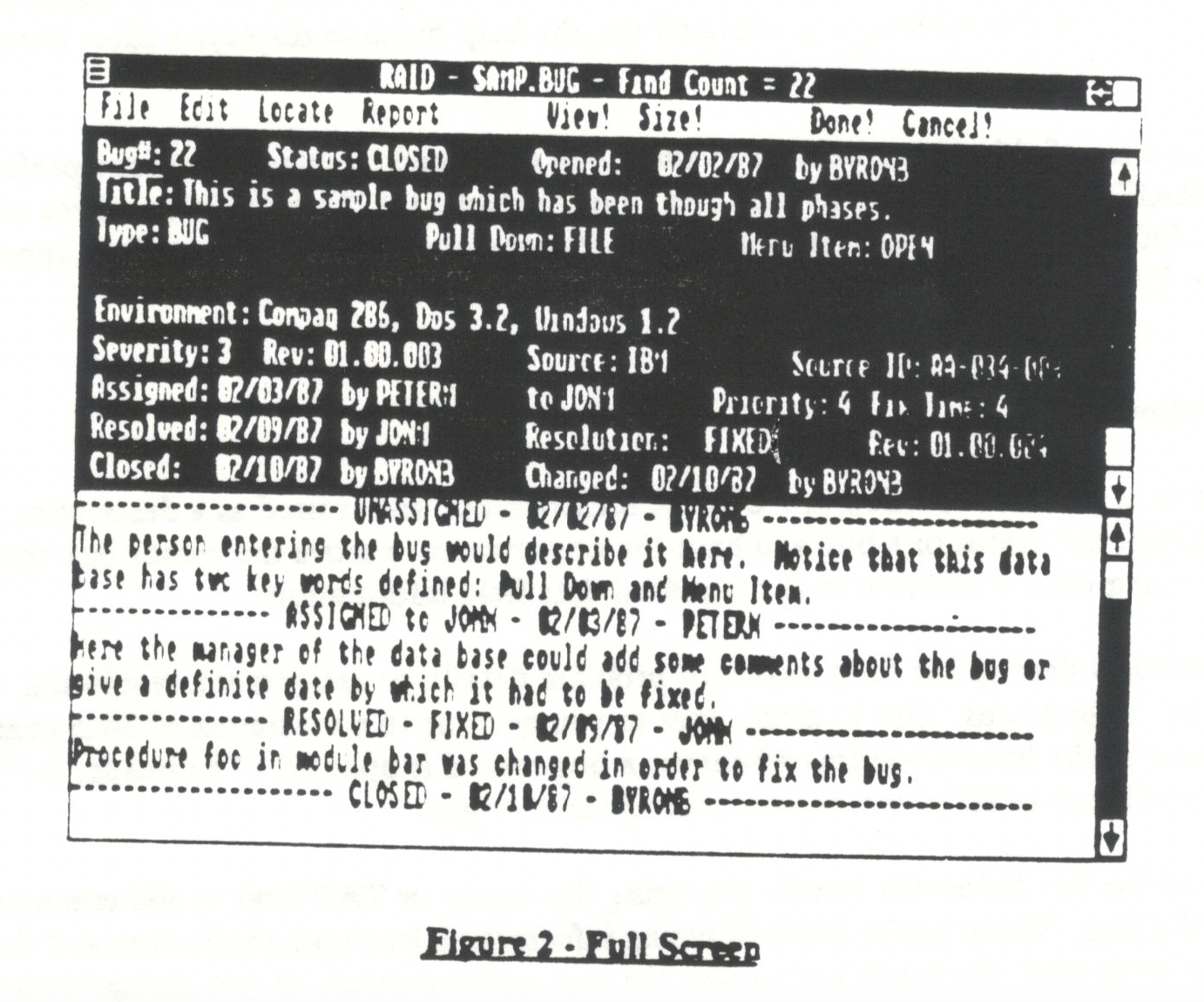 Screenshot from a printed documentation manual of the RAID Windows application.