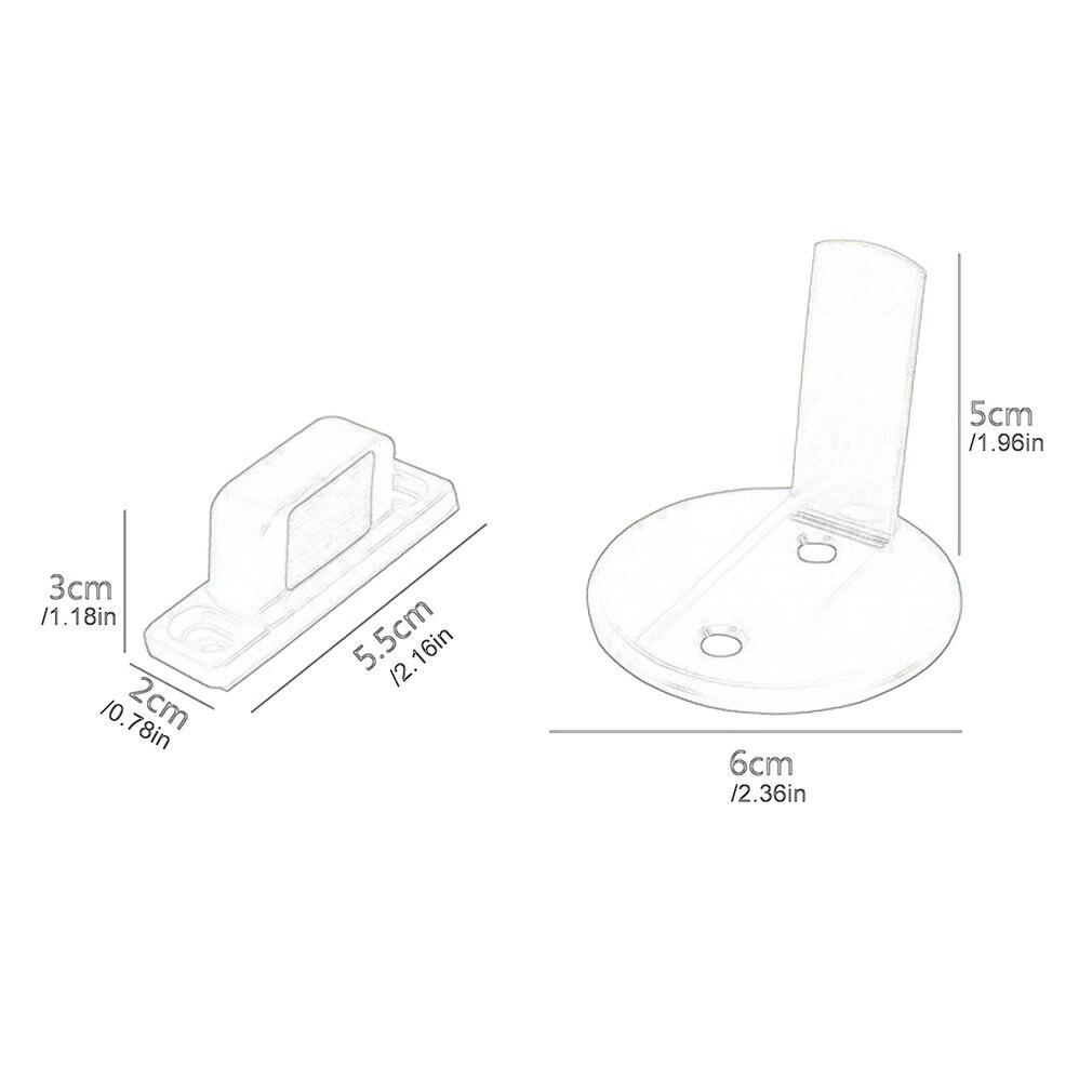 Magnetic Door Holder Stopper Invisible Zinc Alloy Doorstop Wall Floor Safety