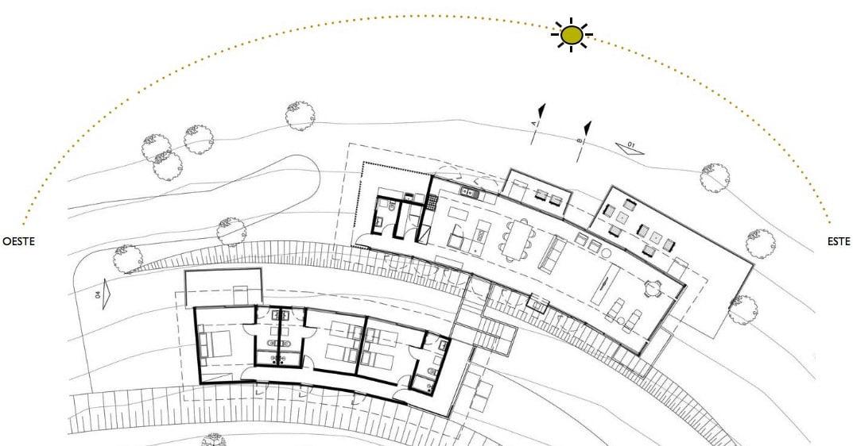 Construir una casa en un terreno inclinado