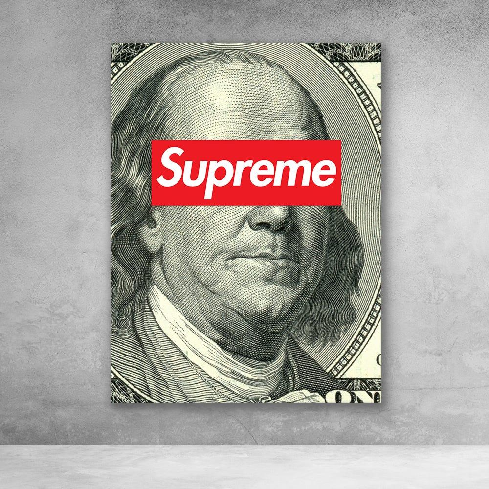 Supreme Ben Franklin Pop Culture Money Wall Art