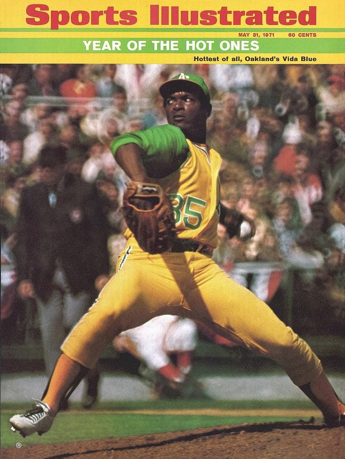 Oakland Athletics Vida Blue... Sports Illustrated Cover by Sports  Illustrated