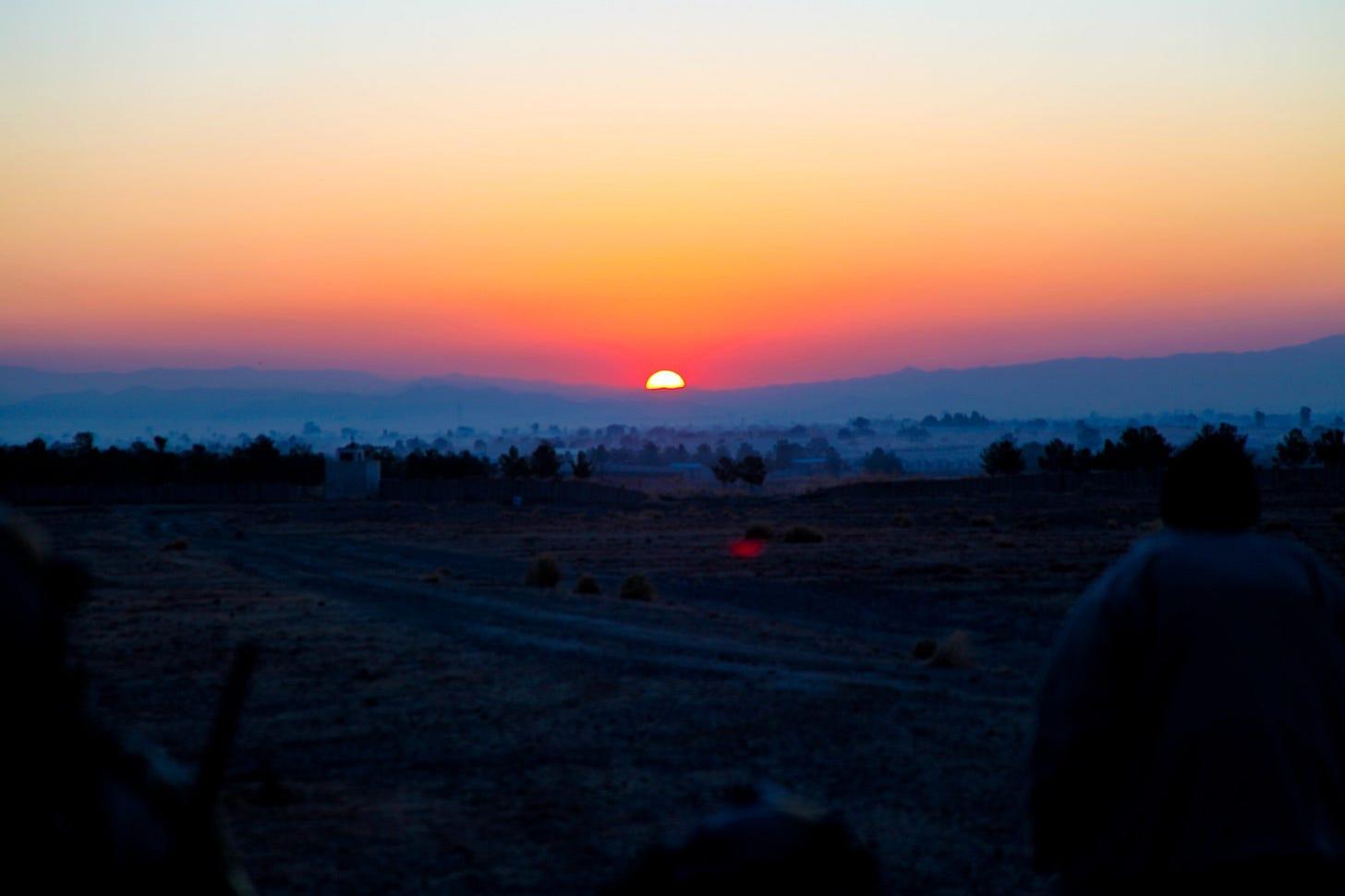 Sunrise, Khost, Afghanistan, in 2013. Codie M. Mendenhall  / US Army