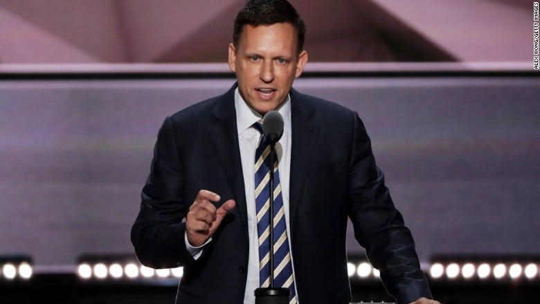 Peter Thiel disrupts Silicon Valley with RNC speech