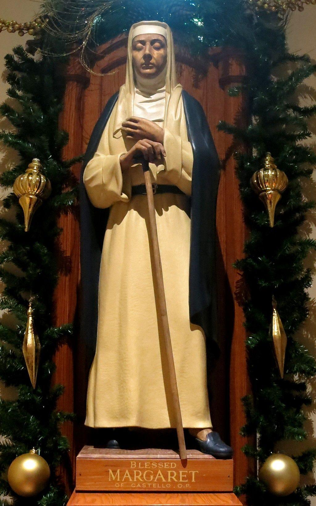 Saint Patrick Catholic Church (Columbus, Ohio) - Blessed Margaret of Castello statue.jpg