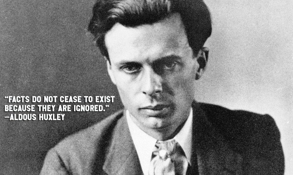 """r/QuotesPorn - """"Facts do not cease to exist because they are ignored."""" —Aldous Huxley [1501x900] [OC]"""