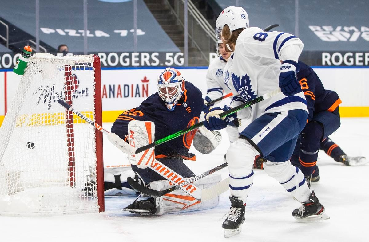 Leafs survive run of penalties to beat Oilers, stay perfect in Alberta |  The Star