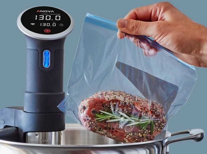 The upgraded Anova sous vide cooker is discounted today on Amazon