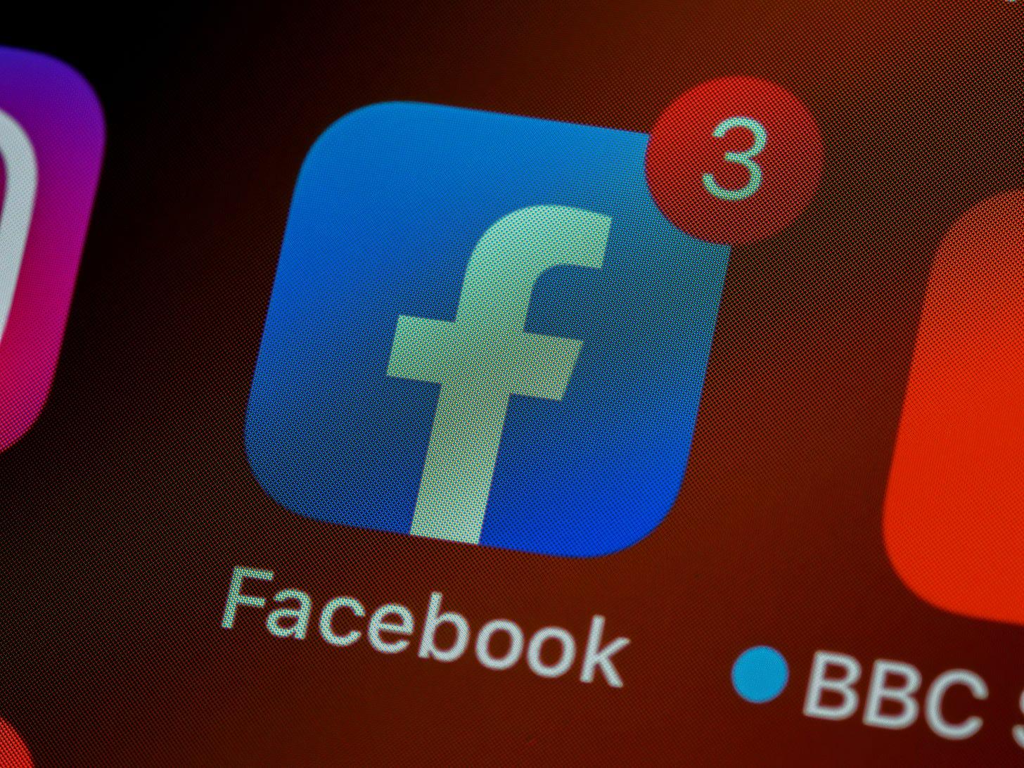 Photo of Facebook app icon on an iPhone. Brett Jordan / Unsplash
