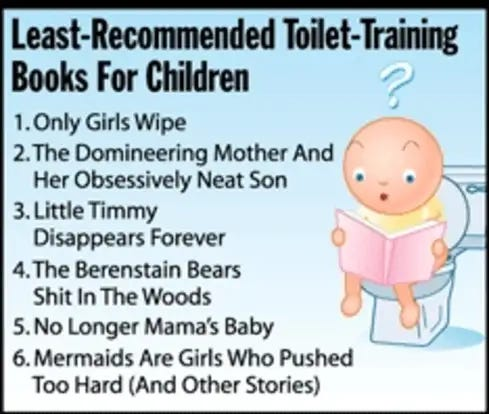 Least-Recommended Toilet-Training Books For Children