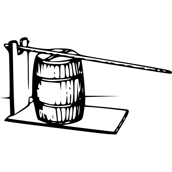 Lever barrel press vector drawing | Free SVG