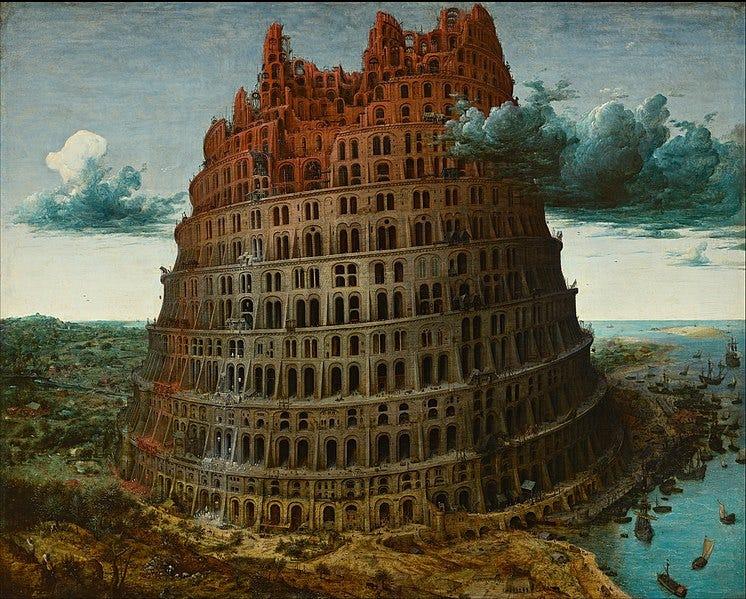Fichier:Pieter Bruegel the Elder - The Tower of Babel (Rotterdam) - Google Art Project.jpg