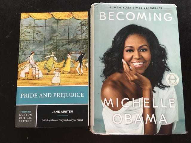 Michelle Obama's Memoir has parallels to Jane Austen's Pride and Prejudice
