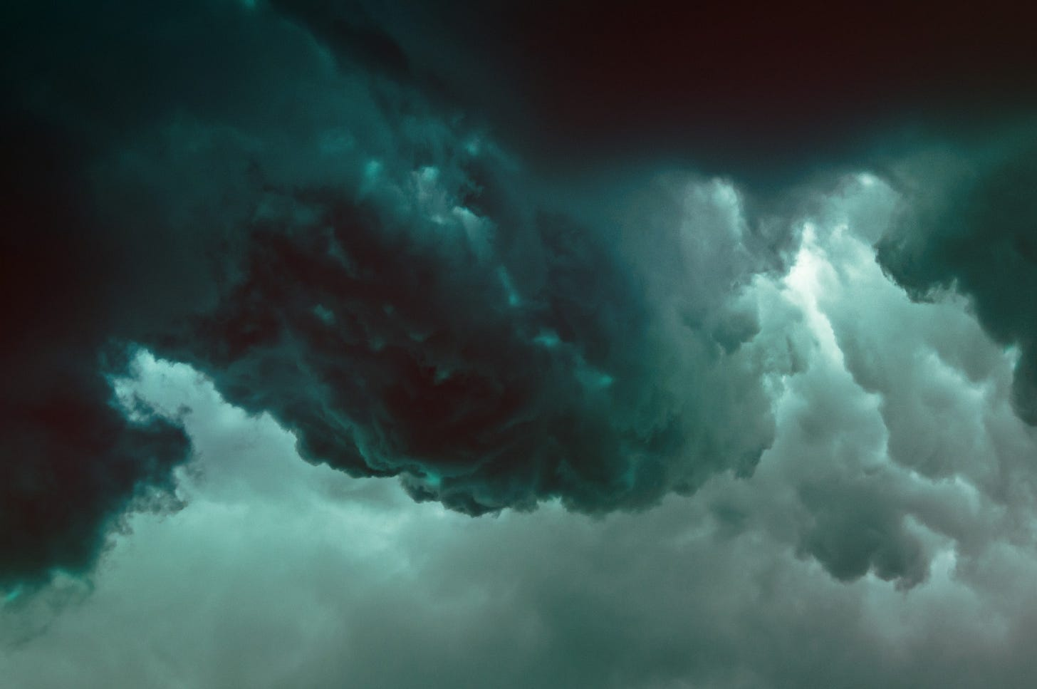 Image of storm clouds gathering for article by Larry G. Maguire