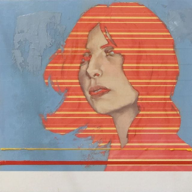Portrait of woman with orange hair
