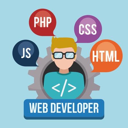 Web developer design, vector illustration eps 10.: Royalty-free ...