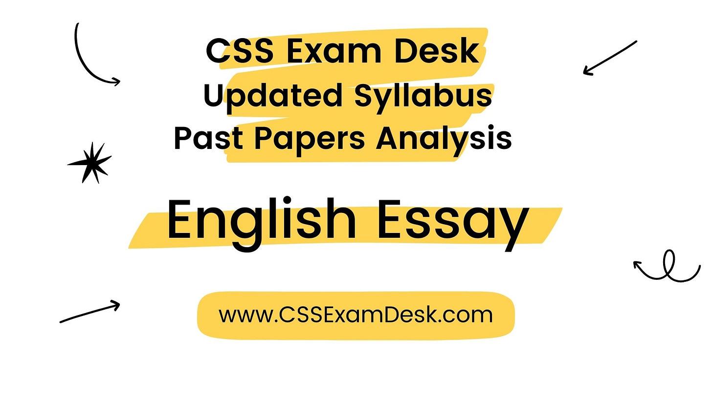 English Essay Syllabus for CSS 2022