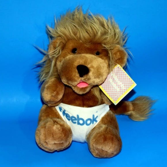 Reebok Other   Willoughby Weebok Lion Cub Big Plush Vintag 1987   Poshmark