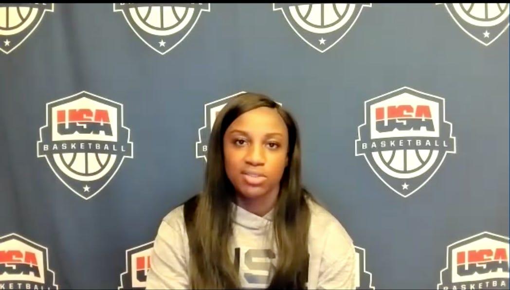 Jackie Young. (USA Basketball screenshot)