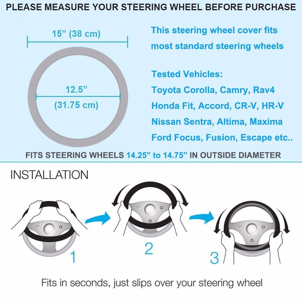New design Diamond Crystal Car Steering Wheel Cover Leather Rhinestone Cover for Steering-wheel Women Universal 38cm Car Styling