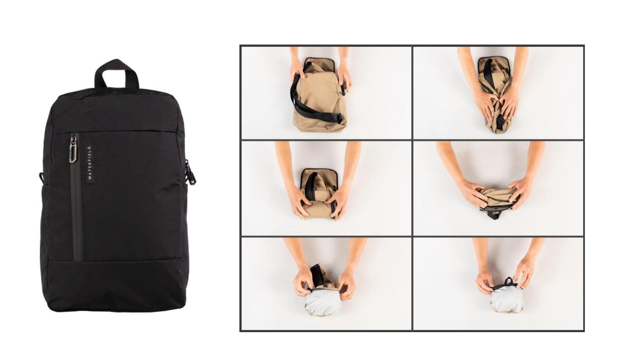 A bag that folds into a small pouch