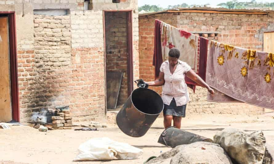 A Zimbabwean woman at her home in a rural area near Harare.