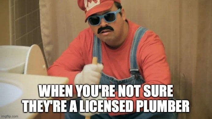 a fake plumber