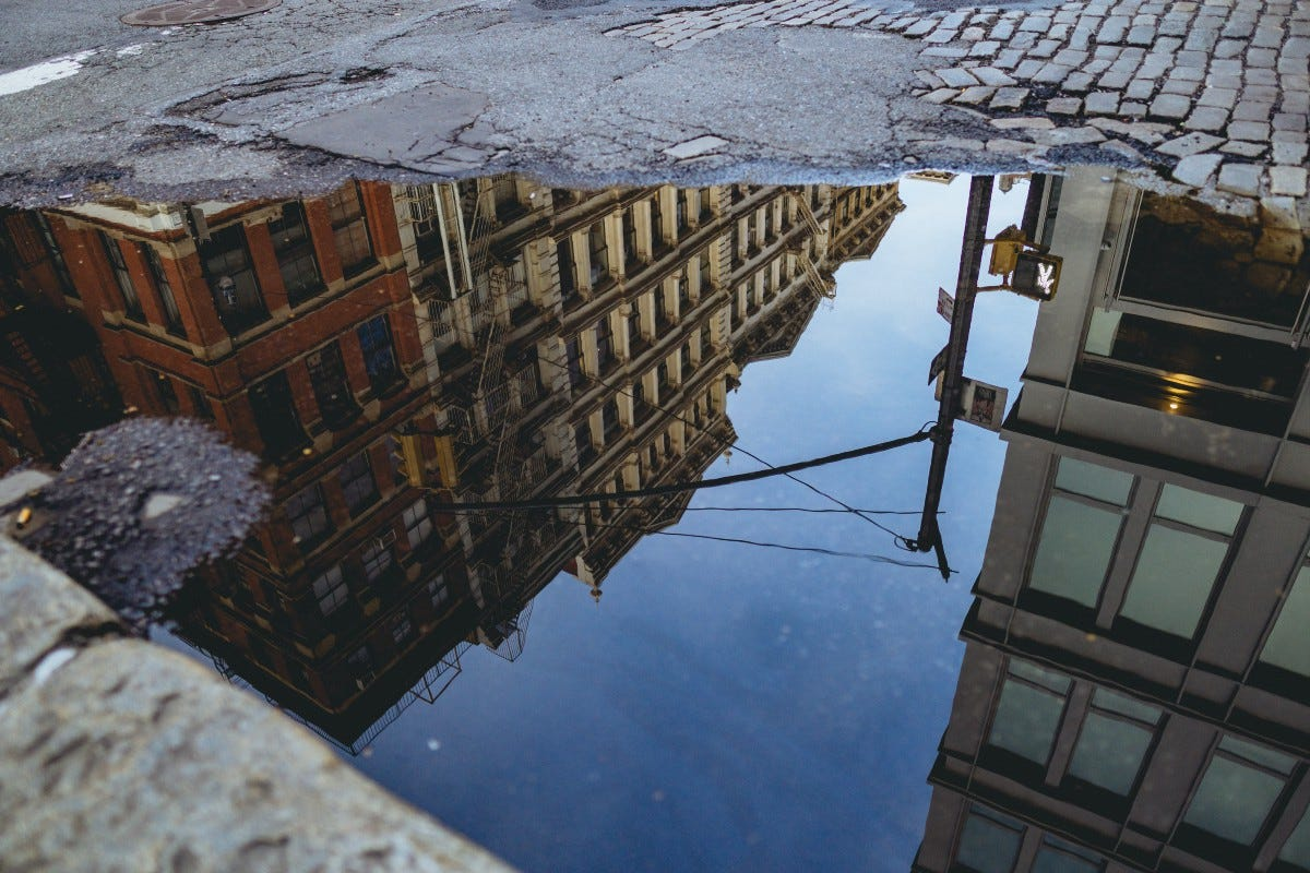 city puddle picture
