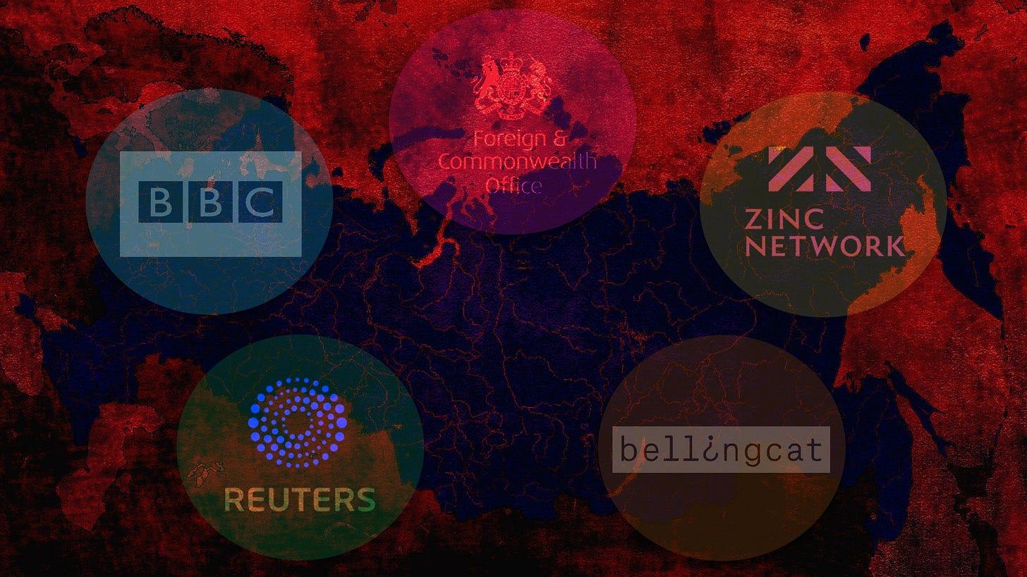 UK Foreign Office Russia propaganda Reuters BBC Bellingcat