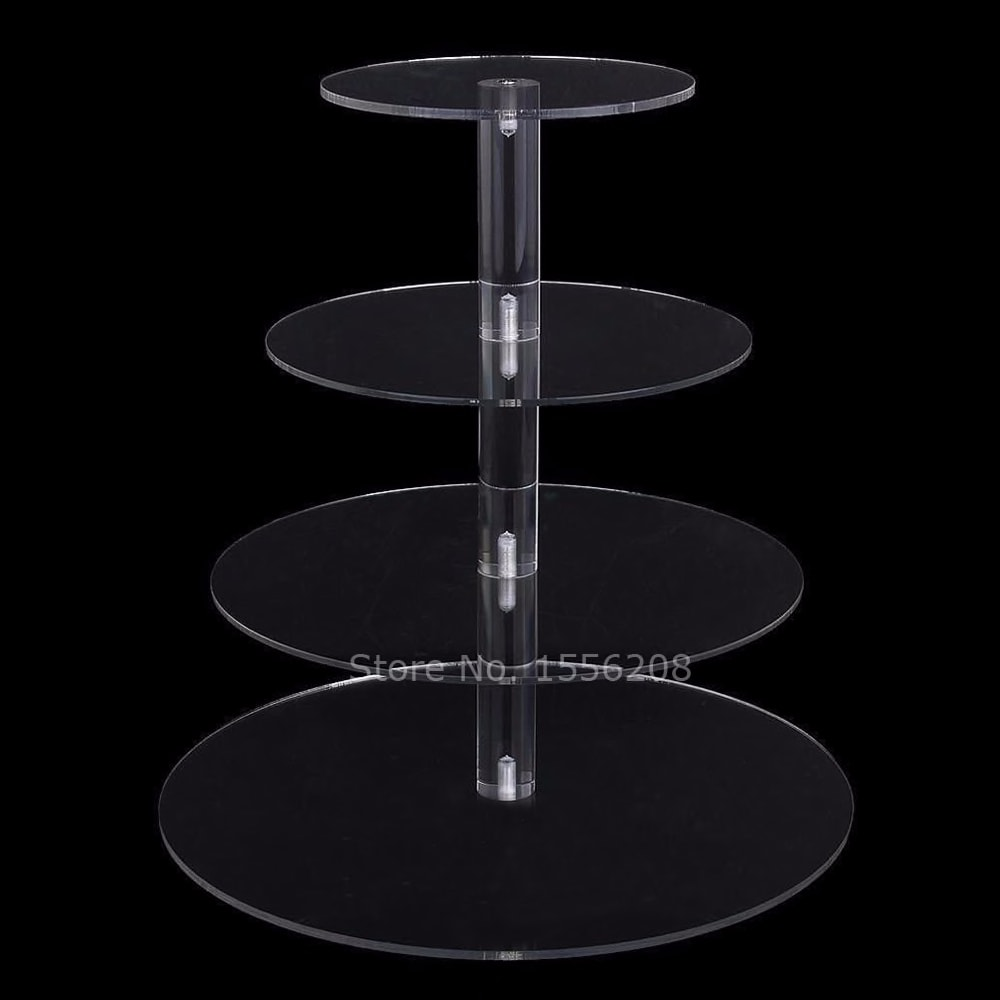 Cake Stand Round Cup Cupcake Holder Wedding Birthday Party Decorations Dessert Sugar Bakeware Cake Tools Accessories Acrylic