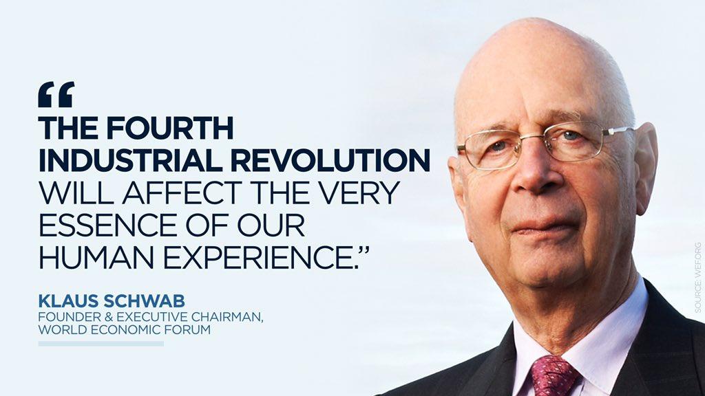"""تويتر \ Fred Kempe على تويتر: """"""""The Fourth Industrial Revolution will  affect the very essence of our human experience.""""— Klaus Schwab #WEF16  https://t.co/wZmJFaT8V1"""""""