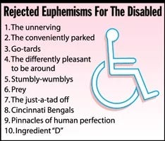 Illustration for article titled Rejected Euphemisms For The Disabled
